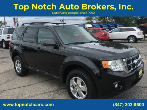 2012 Ford Escape for sale at Top Notch Auto Brokers, Inc. in Palatine IL