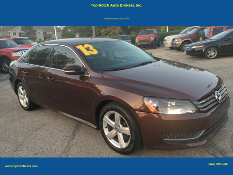 2013 Volkswagen Passat for sale at Top Notch Auto Brokers, Inc. in Palatine IL