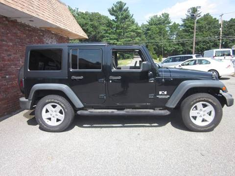 2007 jeep wrangler unlimited 4x4 x 4dr suv in tewksbury ma tewksbury used cars. Black Bedroom Furniture Sets. Home Design Ideas