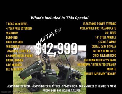 2019 Massimo T-BOSS 1100 DIESEL for sale at JENTSCH MOTORS in Hearne TX