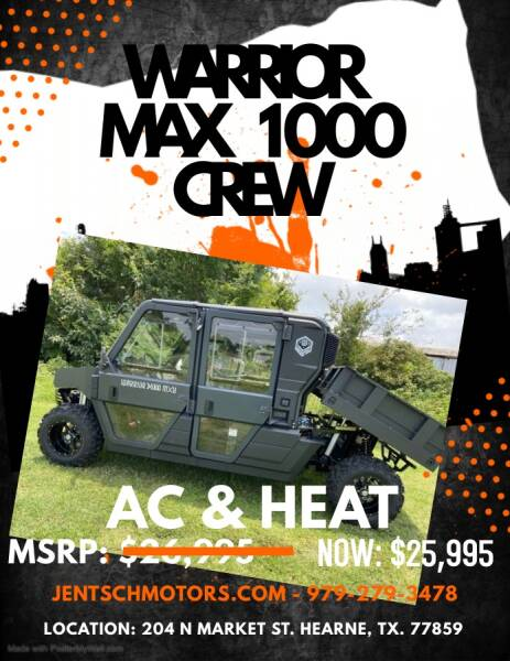 2020 BENNCHE WARRIOR MAX 1000X CREW for sale at JENTSCH MOTORS in Hearne TX