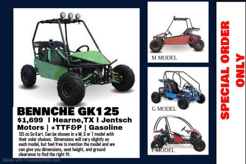 "2020 BENNCHE GK125 ""G"" or ""T"" Model for sale at JENTSCH MOTORS in Hearne TX"