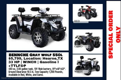 2020 BENNCHE GRAY WOLF 550L for sale at JENTSCH MOTORS in Hearne TX