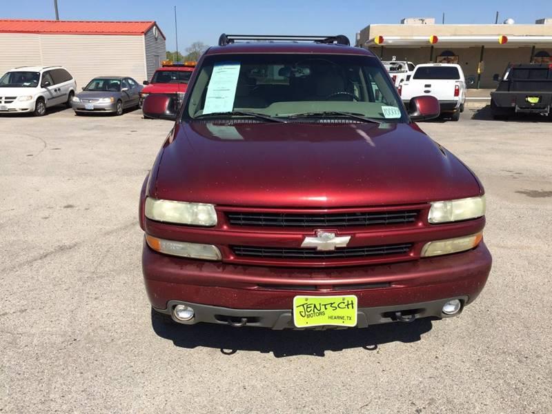 2003 Chevrolet Tahoe for sale at JENTSCH MOTORS in Hearne TX