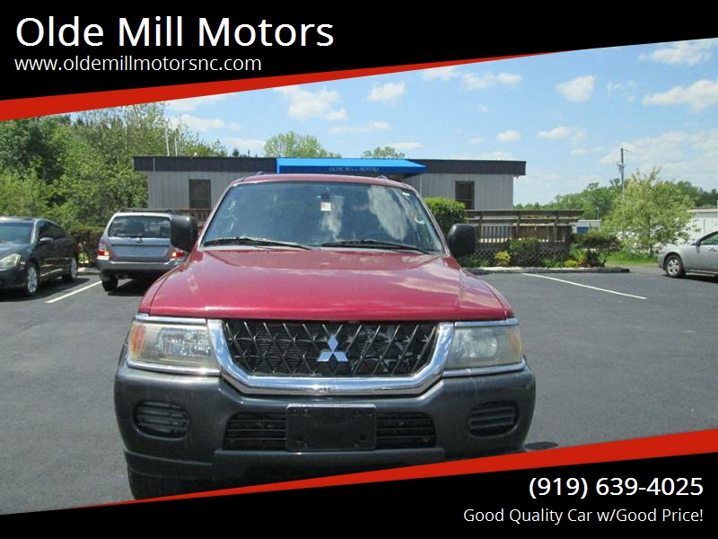 2002 Mitsubishi Montero Sport XLS 4WD 4dr SUV   Angier NC