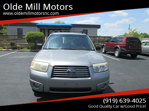 2007 Subaru Forester for sale at Olde Mill Motors in Angier NC