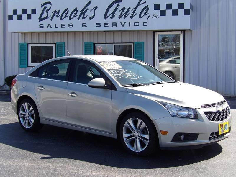 Brooks Auto Sales >> 2013 Chevrolet Cruze Ltz Auto 4dr Sedan W 1sj In Manitowoc
