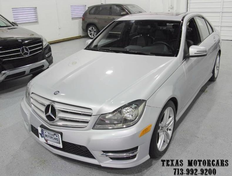 2012 Mercedes-Benz C-Class for sale at TEXAS MOTORCARS  OF HOUSTON in Houston TX