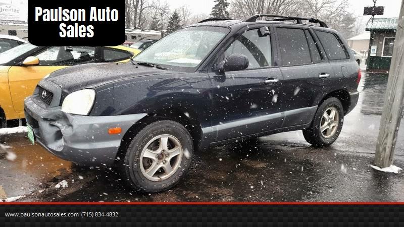 2004 Hyundai Santa Fe For Sale At Paulson Auto Sales In Chippewa Falls WI