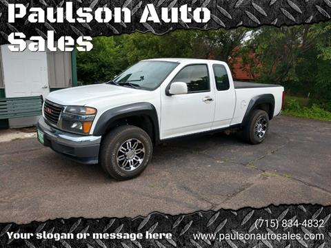 2011 GMC Canyon for sale at Paulson Auto Sales in Chippewa Falls WI