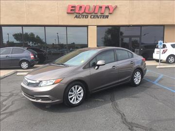 2012 Honda Civic for sale at EQUITY AUTO CENTER GLENDALE in Glendale AZ
