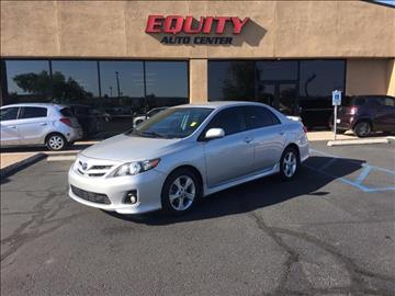 2012 Toyota Corolla for sale at EQUITY AUTO CENTER GLENDALE in Glendale AZ