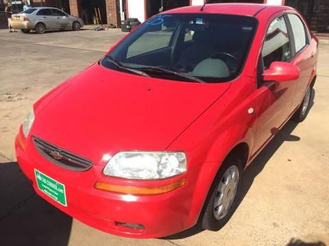 2005 Chevrolet Aveo for sale at 4 B CAR CORNER in Anadarko OK