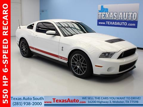 2012 Ford Shelby GT500 for sale in Houston, TX