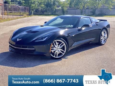 2014 Chevrolet Corvette Stingray Z51 for sale at Texas Auto South in Houston TX