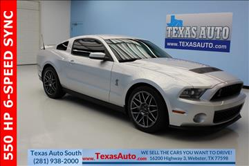 2011 Ford Shelby GT500 for sale in Houston, TX