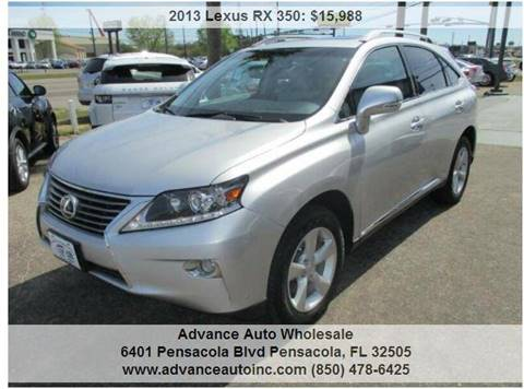 2013 Lexus RX 350 for sale at Advance Auto Wholesale in Pensacola FL