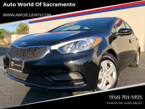 2016 Kia Forte for sale at Auto World of Sacramento Stockton Blvd in Sacramento CA