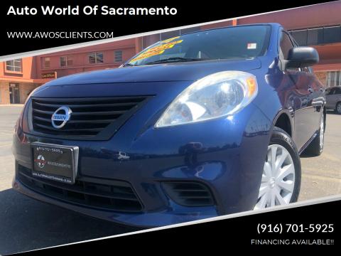 2014 Nissan Versa for sale at Auto World of Sacramento Stockton Blvd in Sacramento CA