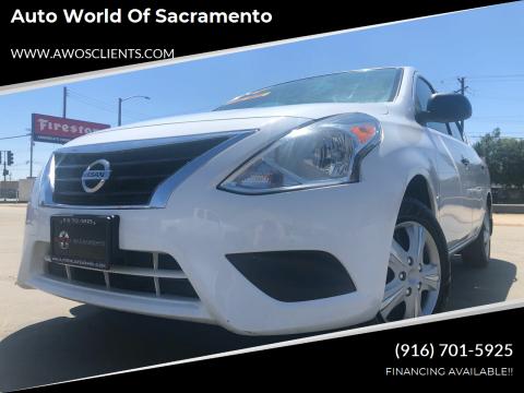 2015 Nissan Versa for sale at Auto World of Sacramento Stockton Blvd in Sacramento CA