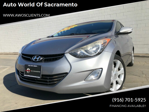 2012 Hyundai Elantra for sale at Auto World of Sacramento Stockton Blvd in Sacramento CA