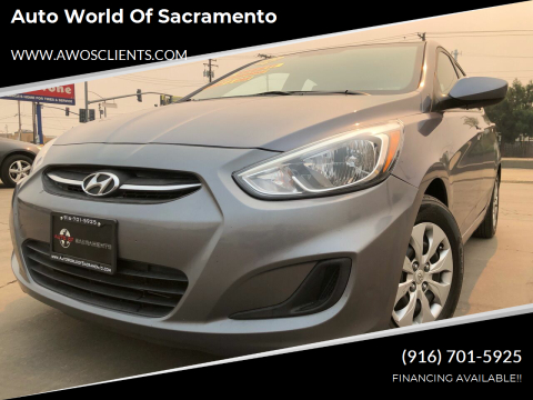 2016 Hyundai Accent for sale at Auto World of Sacramento Stockton Blvd in Sacramento CA