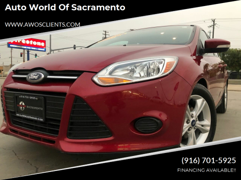 2014 Ford Focus for sale at Auto World of Sacramento Stockton Blvd in Sacramento CA