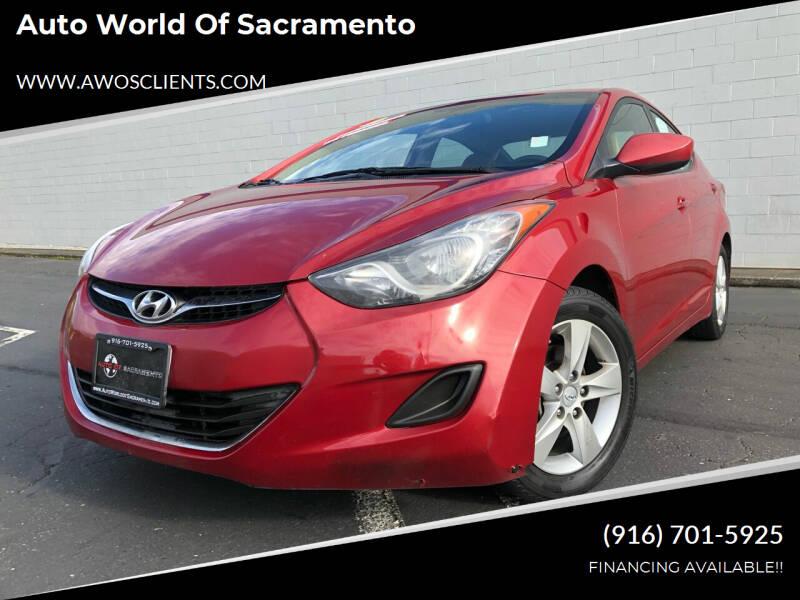2013 Hyundai Elantra for sale at Auto World of Sacramento Stockton Blvd in Sacramento CA