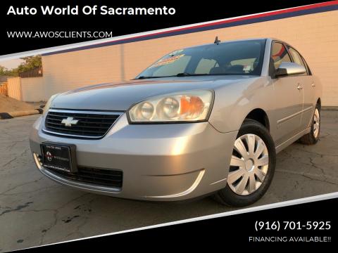 2007 Chevrolet Malibu for sale at Auto World of Sacramento Stockton Blvd in Sacramento CA