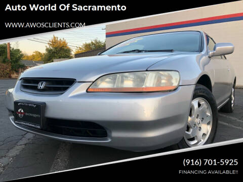 1999 Honda Accord for sale at Auto World of Sacramento Stockton Blvd in Sacramento CA