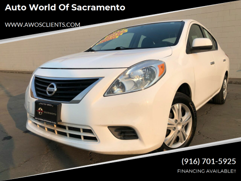2012 Nissan Versa for sale at Auto World of Sacramento Stockton Blvd in Sacramento CA