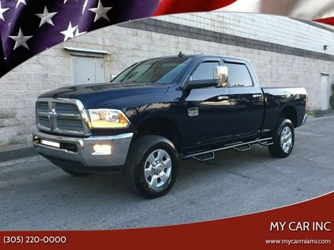 2013 RAM Ram Pickup 2500 Laramie Longhorn for sale at My Car Inc in Pls. Call 305-220-0000 FL