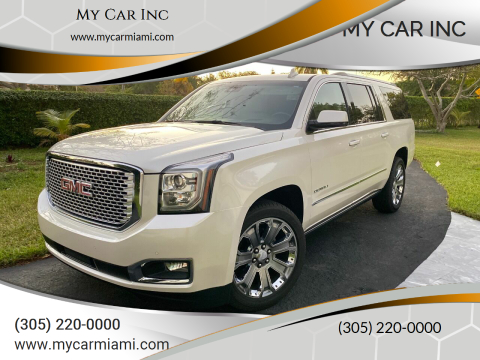 2015 GMC Yukon XL Denali for sale at My Car Inc in Pls. Call 305-220-0000 FL