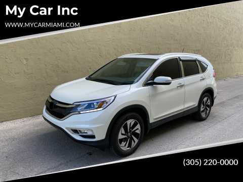 2016 Honda CR-V Touring for sale at My Car Inc in Pls. Call 305-220-0000 FL