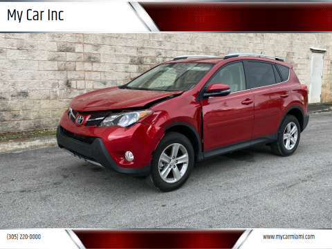 2014 Toyota RAV4 XLE for sale at My Car Inc in Pls. Call 305-220-0000 FL