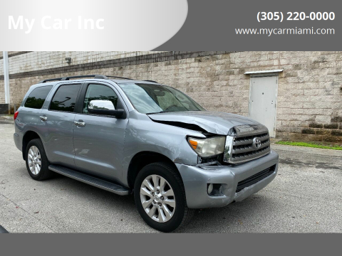 2013 Toyota Sequoia Platinum for sale at My Car Inc in Pls. Call 305-220-0000 FL