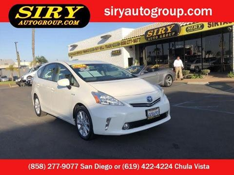Used Toyota Prius Near Me >> 2012 Toyota Prius V For Sale In San Diego Ca