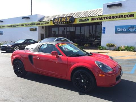 2001 Toyota MR2 Spyder for sale in San Diego, CA