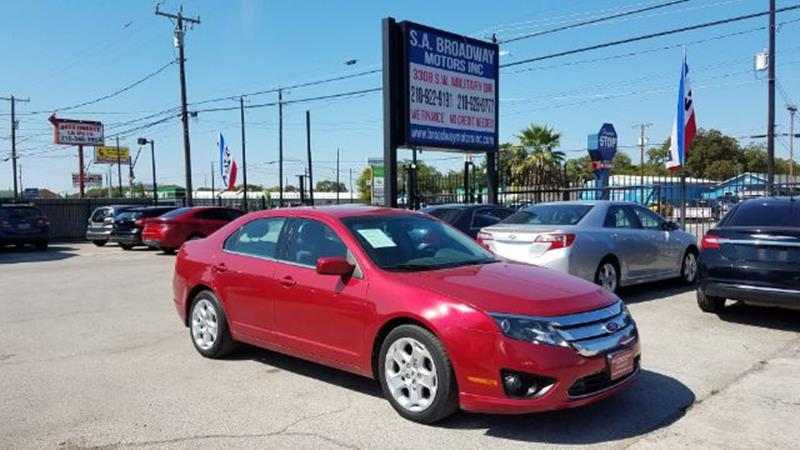 2011 Ford Fusion for sale at S.A. BROADWAY MOTORS INC in San Antonio TX