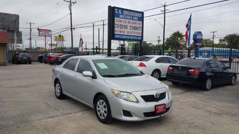 2009 Toyota Corolla for sale at S.A. BROADWAY MOTORS INC in San Antonio TX