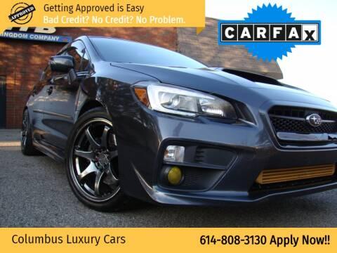 2016 Subaru WRX for sale at Columbus Luxury Cars in Columbus OH