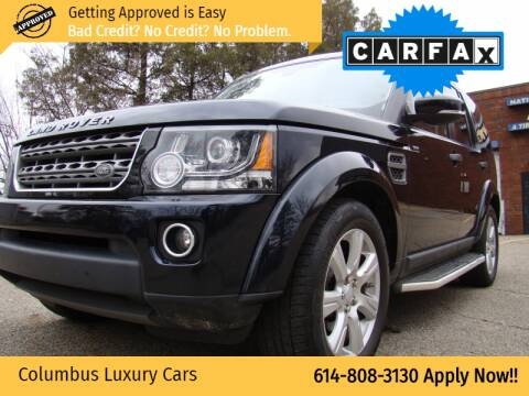 2016 Land Rover LR4 for sale at Columbus Luxury Cars in Columbus OH