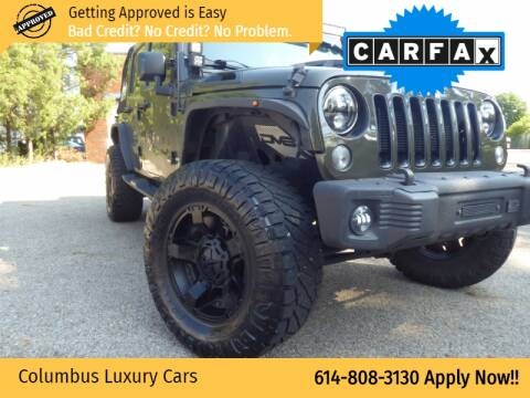 2016 Jeep Wrangler Unlimited for sale at Columbus Luxury Cars in Columbus OH