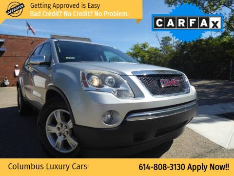 2010 GMC Acadia for sale at Columbus Luxury Cars in Columbus OH