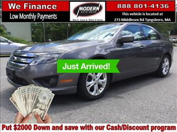 2012 Ford Fusion for sale in Tyngsboro, MA