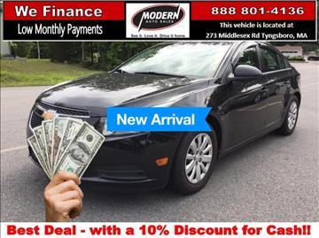 2011 Chevrolet Cruze for sale in Tyngsboro, MA