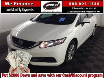 2014 Honda Civic for sale in Tyngsboro, MA