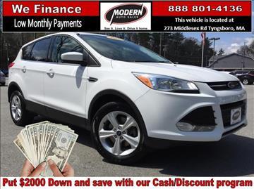2015 Ford Escape for sale in Tyngsboro, MA