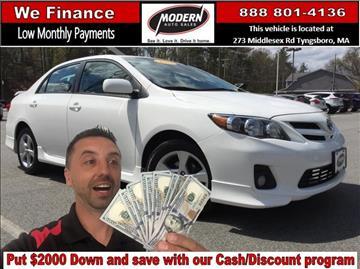 2012 Toyota Corolla for sale in Tyngsboro, MA