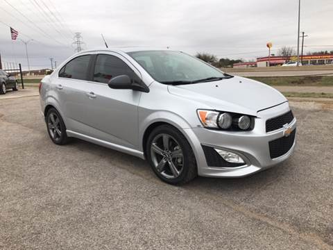 2014 Chevrolet Sonic for sale at LLANOS AUTO SALES in Dallas TX
